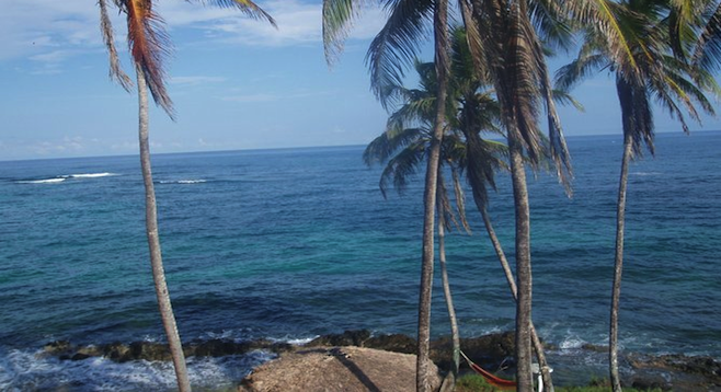 Big Corn Island coastline.