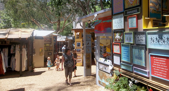 Laguna's Sawtooth Art Festival is know for a more informal vibe.