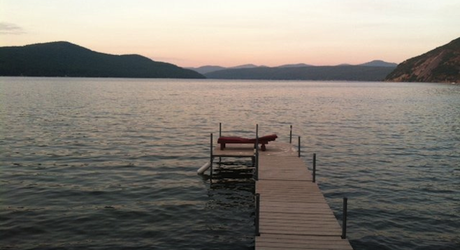 Upstate New York's Lake George at dawn.
