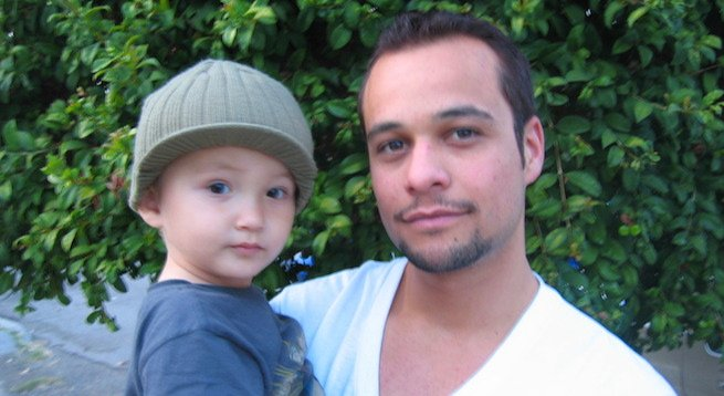 Chase Edwards with his son, Jameson