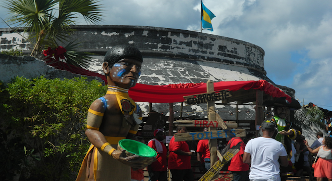 18th-century Fort Charlotte is an imposing backdrop for the Rum Bahamas Fest.