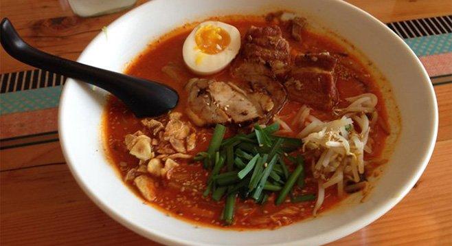 The spicy sesame ramen. Tajima Hillcrest.