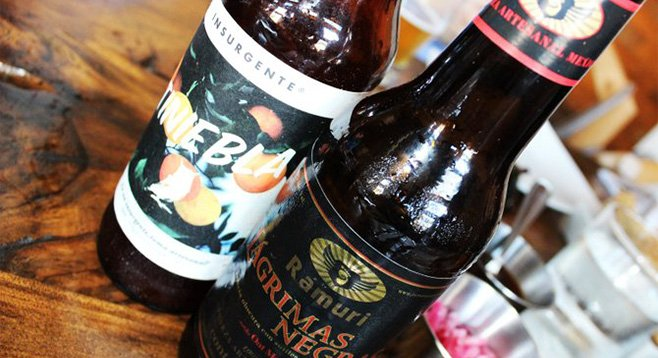 Baja craft beers enjoyed at La Caza Club in Tijuana