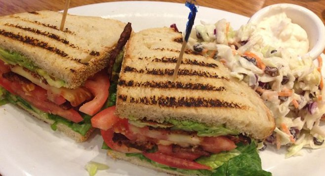 B.T.L.A. (with fake bacon) at Veggie Grill in University Town Center