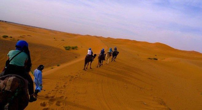 Dead ahead: 3,000 miles of desert.
