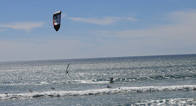 Kite-surfer at Tourmaline