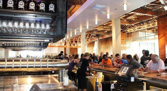 The bar at Ballast Point Brewing & Spirits' new tasting room in Miramar