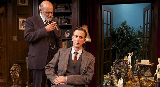 Michael Santo and Bruce Turk in Freud's Last Session at North Coast Rep.