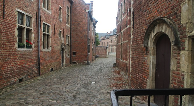 Lucky students get to reside in these 13th century houses at the Unesco world heritage site of The Great Beguinage in Leuven, Belgium