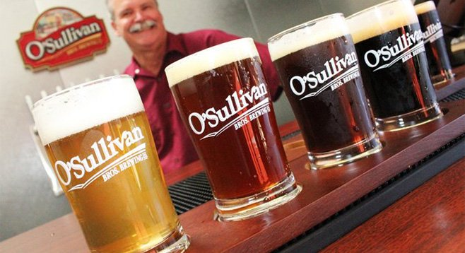 O'Sullivan Bros. Brewing Company owner Ed O'Sullivan serves up tasters of his Scripps Ranch brewery's beers