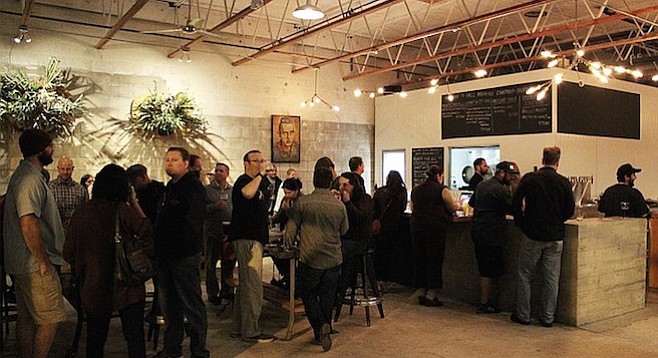 The first Friday service at Fall Brewing Company