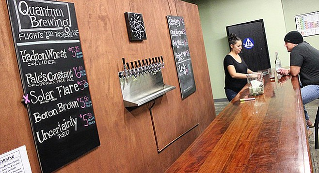 The tasting room at Quantum Brewery in Kearny Mesa