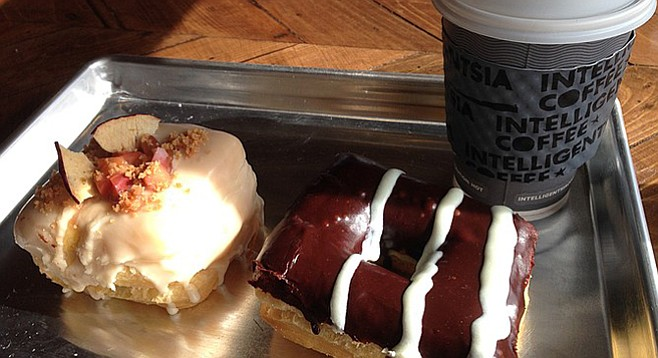 Dutch Apple and Chocolate Lover's doughnuts. StreetCar Merchants.