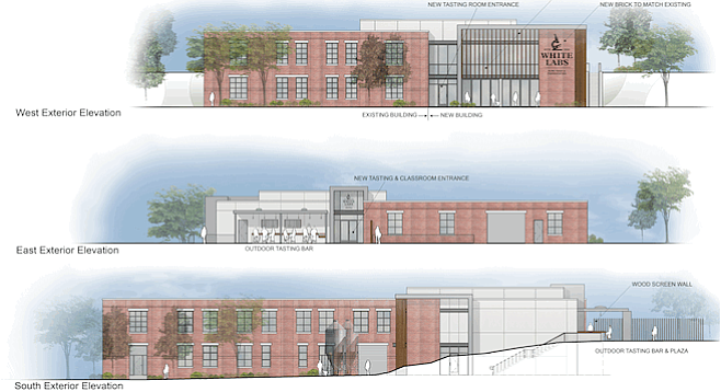 Renderings of White Labs' facility in Asheville, North Carolina