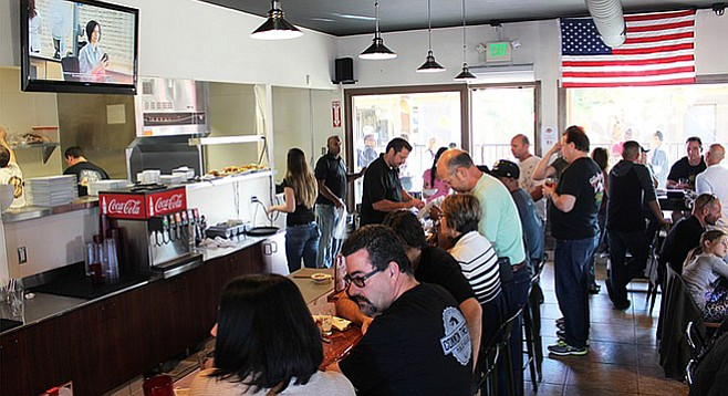 The bar and dining room at Legacy Brewing Company's Miramar tap and kitchen