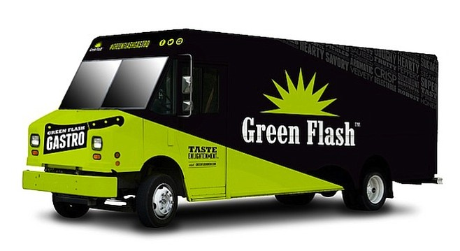 The concept art for Green Flash's upcoming food truck (courtesy Green Flash Brewing Company)