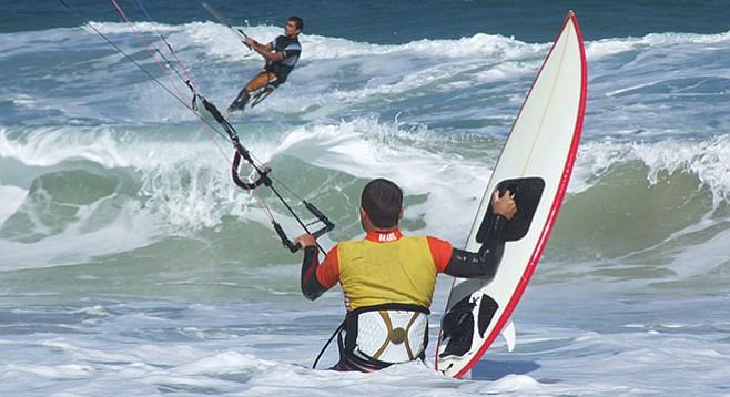 Kite-surfers at Tourmaline, prepare for no minor kibosh