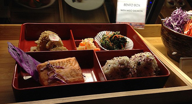 The bento box meals really look like this. But wouldn't a plastic version also look like this? Bento Box. Artisan Bento.