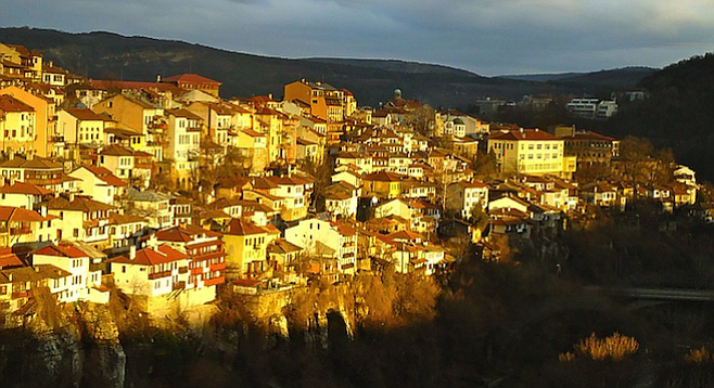 Veliko Tarnovo, in north-central Bulgaria, dates to the Middle Ages.
