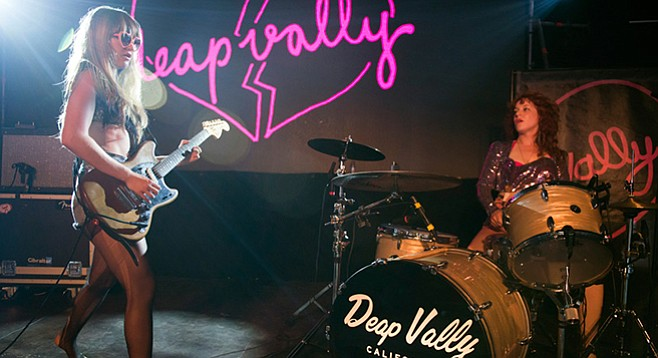 L.A. rock-roll duo Deap Vally headline sets at Belly Up Thursday night!