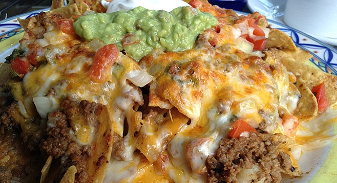 What $10.95 buys: Nachos with ground beef