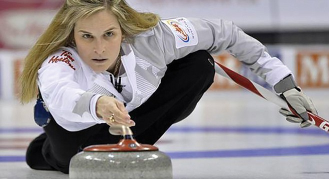 """When """"broomstacking,"""" the winning curling team buys the losing curlers the first round of drinks."""