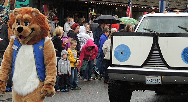 Leo the Lions Club lion at Viking Fest in Poulsbo