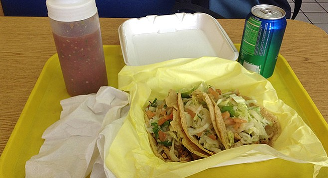 Tacos combo at Pollos Don Pepe.