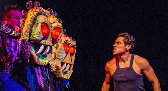 Leandro Cano, Spencer Smith, Lakin Valdez in Oedipus El Rey at San Diego REP