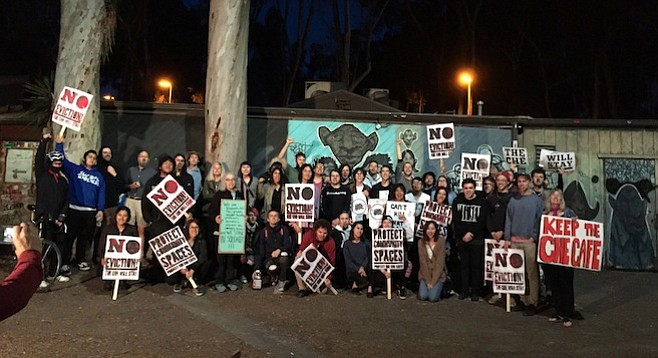 Collective members and community gather to protect this proposed historical site on UCSD campus.