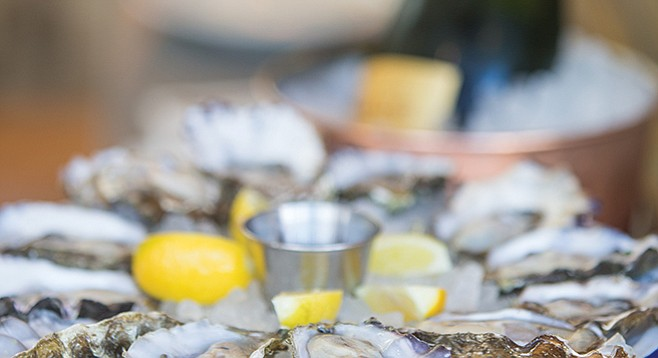 Select oysters go for a buck a shuck during happy hour at Ironside Fish & Oyster