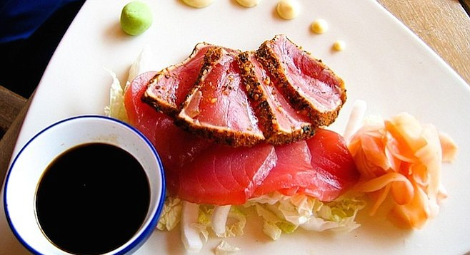 Seared Ahi (yellowfin tuna)