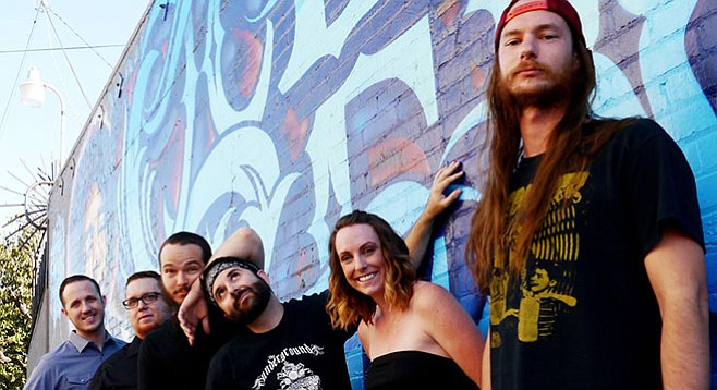 """For its Greenwood release party June 20 at Soda Bar, pub-rockers Lexington Field promise a night of """"intense fiddle rock."""""""