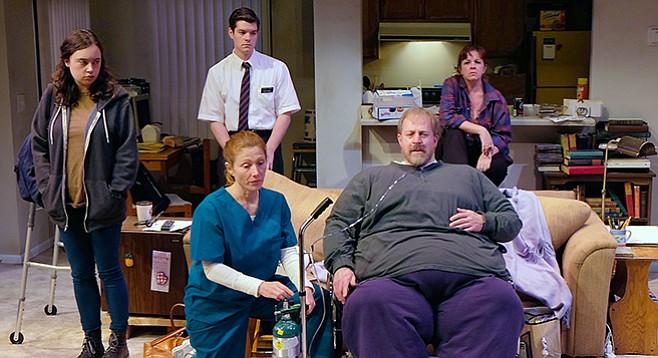 Erin McIntosh, Craig Jorczak, Melissa Fernandes, Judy Bauerlein, Andrew Oswald in The Whale at Cygnet.
