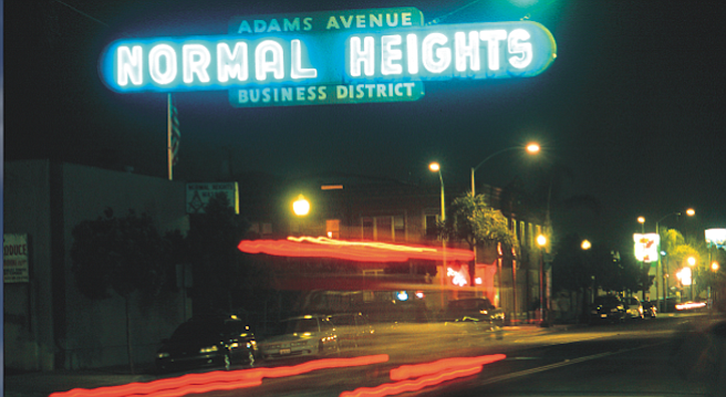 Adams Avenue at night