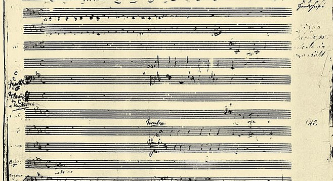 Manuscript of Mass in C minor.