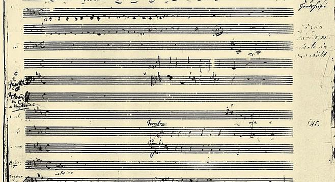 Manuscript of Mass in C minor.