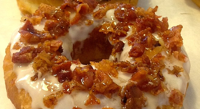 A bacon donut. (You read that right.)
