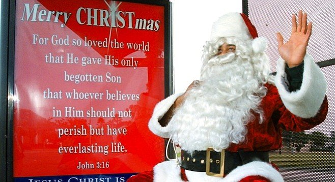 """""""My dad, Dave, was the Santa Claus in the North Park Toyland Parade for probably 15 or 20 years."""""""