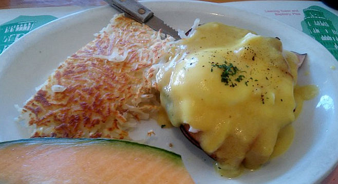Original Eggs Benedict with hollandaise sauce