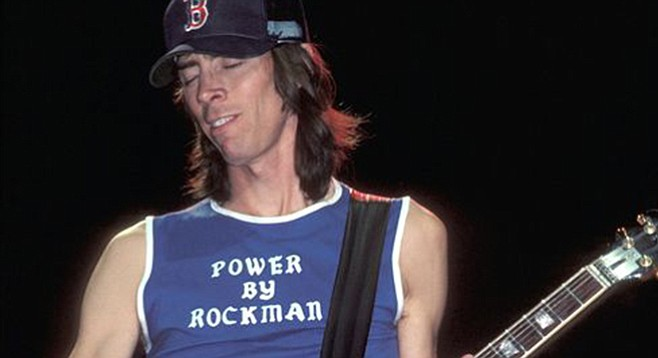 The guitar behind the Boston spaceship belongs to this guy — Tom Scholz