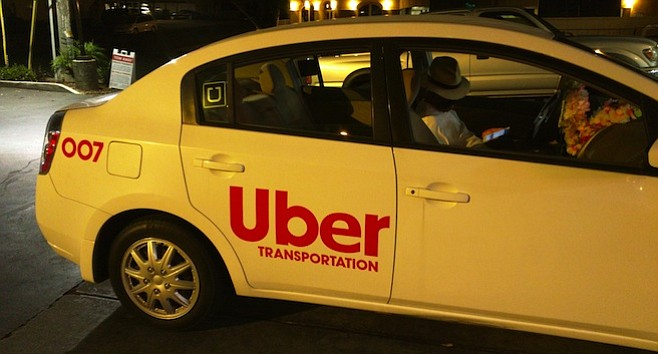 Ubertransportation — not the real Uber. Owner/driver ID'd as Prince Reza Shah