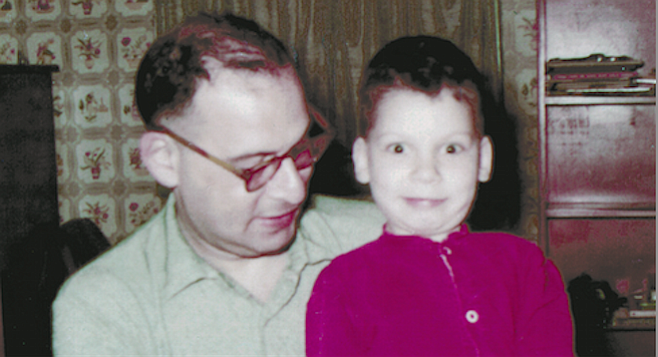 August Kleinzahler with his father