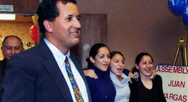 Juan Vargas at San Diego's Golden Hall, November 5, 2002