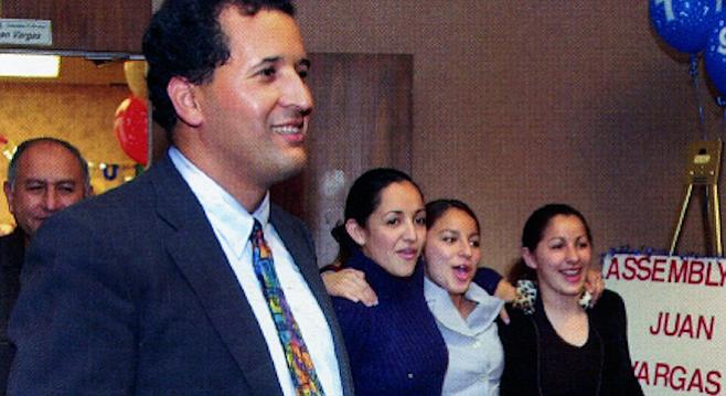 Juan Vargas at San Diego's Golden Hall, November 5, 2002