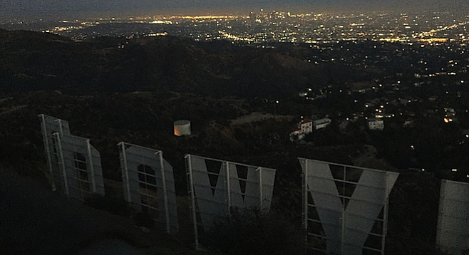 """""""DOOWYLLOH."""" The Hollywood Sign, crown jewel in a tinsel town."""