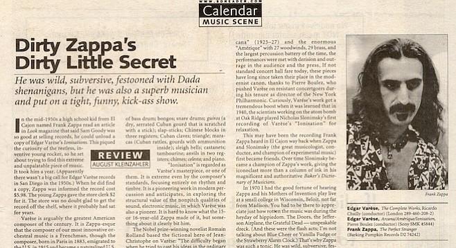 San Diego Reader, September 24, 2009
