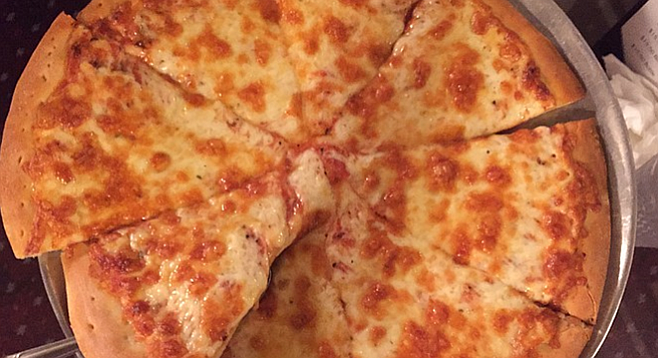 The cheese pizza at Venice Pizza House