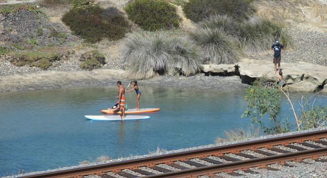 San Elijo Lagoon paddleboarders