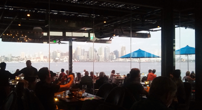 Food with a view at Coasterra